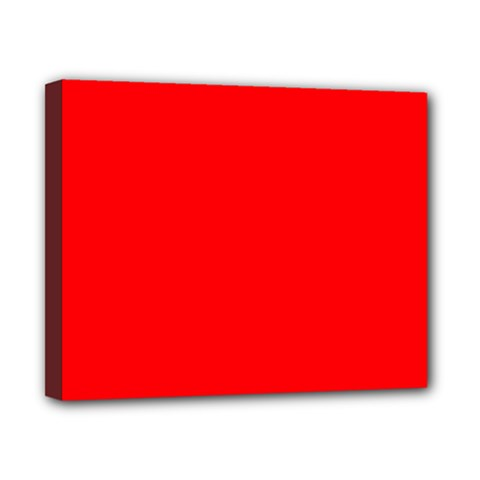 Solid Christmas Red Velvet Canvas 10  x 8