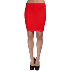 Solid Christmas Red Velvet Bodycon Skirt