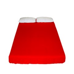 Solid Christmas Red Velvet Fitted Sheet (full/ Double Size)
