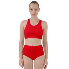 Solid Christmas Red Velvet Bikini Swimsuit Spa Swimsuit