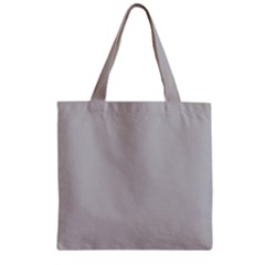 Solid Christmas Silver Zipper Grocery Tote Bag