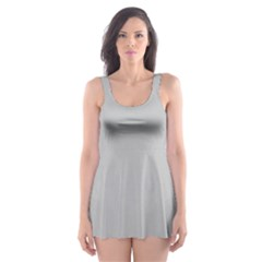 Solid Christmas Silver Skater Dress Swimsuit
