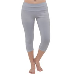 Solid Christmas Silver Capri Yoga Leggings