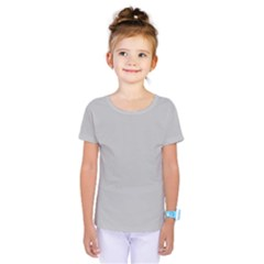 Solid Christmas Silver Kids  One Piece Tee