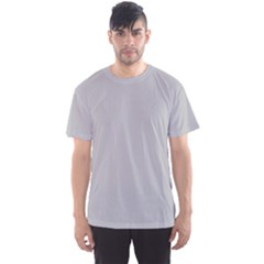 Solid Christmas Silver Men s Sports Mesh Tee
