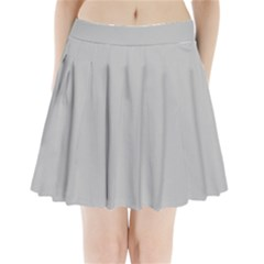 Solid Christmas Silver Pleated Mini Skirt