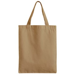 Solid Christmas Gold Zipper Classic Tote Bag