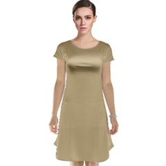Solid Christmas Gold Cap Sleeve Nightdress