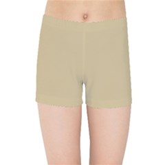 Solid Christmas Gold Kids Sports Shorts