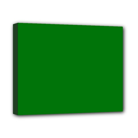 Solid Christmas Green Velvet Classic Colors Canvas 10  x 8