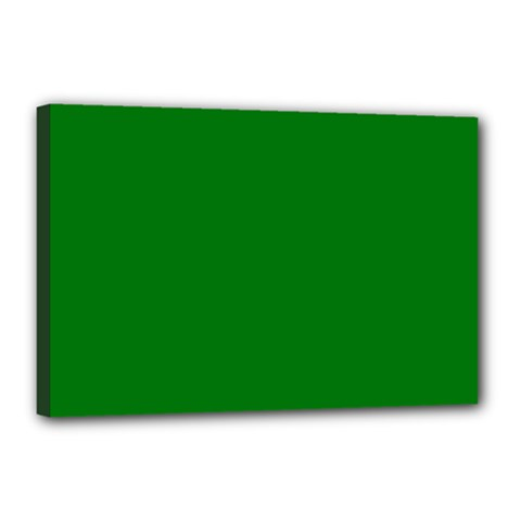 Solid Christmas Green Velvet Classic Colors Canvas 18  x 12