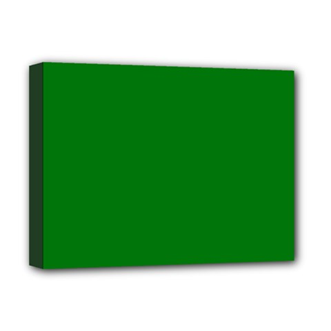 Solid Christmas Green Velvet Classic Colors Deluxe Canvas 16  x 12