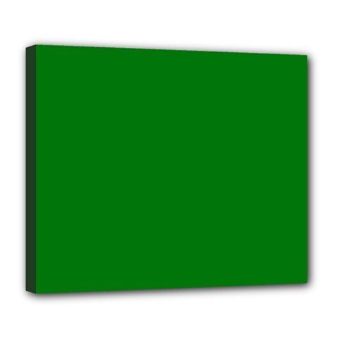 Solid Christmas Green Velvet Classic Colors Deluxe Canvas 24  x 20