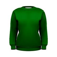 Solid Christmas Green Velvet Classic Colors Women s Sweatshirt