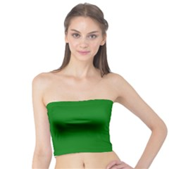 Solid Christmas Green Velvet Classic Colors Tube Top