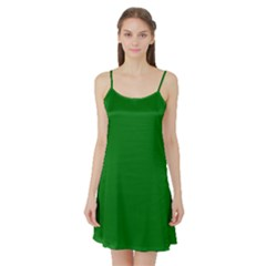 Solid Christmas Green Velvet Classic Colors Satin Night Slip