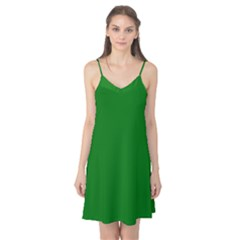 Solid Christmas Green Velvet Classic Colors Camis Nightgown