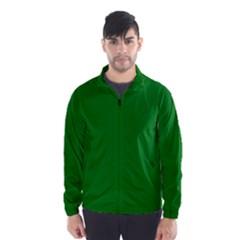 Solid Christmas Green Velvet Classic Colors Wind Breaker (men)