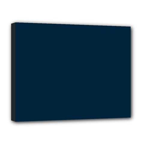 Solid Christmas Silent night Blue Canvas 14  x 11
