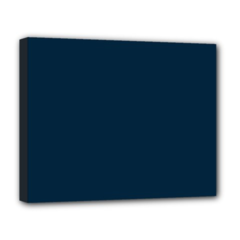 Solid Christmas Silent night Blue Deluxe Canvas 20  x 16