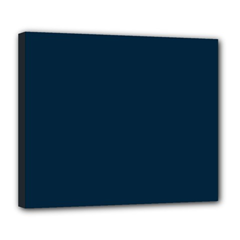 Solid Christmas Silent night Blue Deluxe Canvas 24  x 20