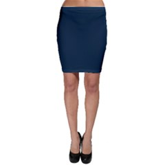 Solid Christmas Silent night Blue Bodycon Skirt