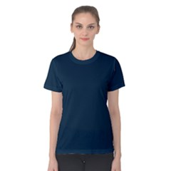 Solid Christmas Silent night Blue Women s Cotton Tee