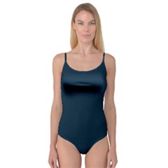 Solid Christmas Silent night Blue Camisole Leotard