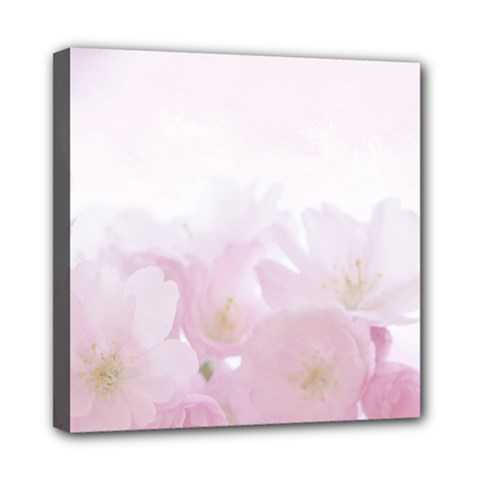 Pink Blossom Bloom Spring Romantic Mini Canvas 8  x 8