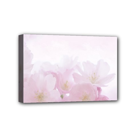 Pink Blossom Bloom Spring Romantic Mini Canvas 6  x 4