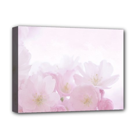 Pink Blossom Bloom Spring Romantic Deluxe Canvas 16  X 12