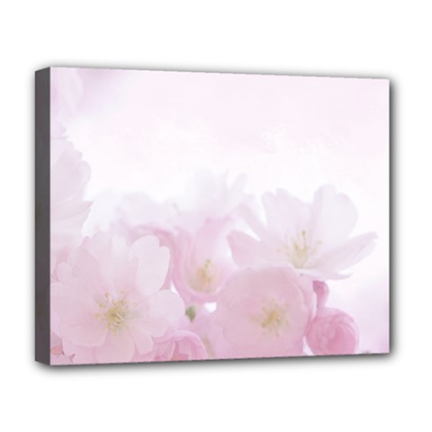 Pink Blossom Bloom Spring Romantic Deluxe Canvas 20  x 16