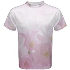 Pink Blossom Bloom Spring Romantic Men s Cotton Tee