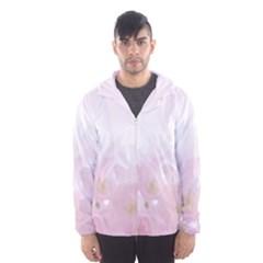 Pink Blossom Bloom Spring Romantic Hooded Wind Breaker (Men)