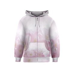 Pink Blossom Bloom Spring Romantic Kids  Zipper Hoodie