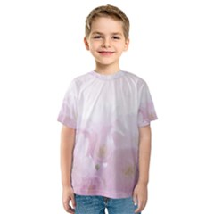 Pink Blossom Bloom Spring Romantic Kids  Sport Mesh Tee