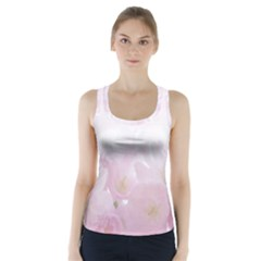 Pink Blossom Bloom Spring Romantic Racer Back Sports Top