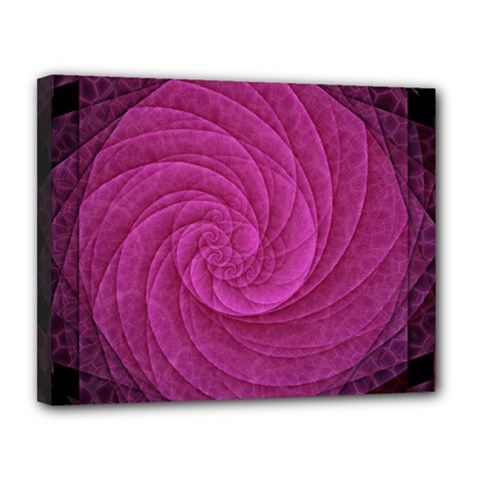 Purple Background Scrapbooking Abstract Canvas 14  X 11