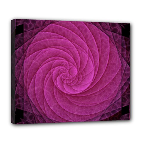 Purple Background Scrapbooking Abstract Deluxe Canvas 24  X 20