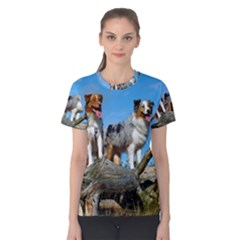 mini Australian Shepherd group Women s Cotton Tee