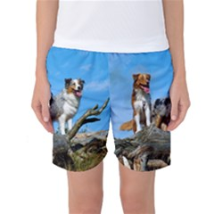mini Australian Shepherd group Women s Basketball Shorts
