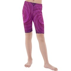 Purple Background Scrapbooking Abstract Kids  Mid Length Swim Shorts