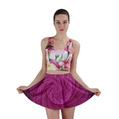 Purple Background Scrapbooking Abstract Mini Skirt