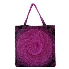 Purple Background Scrapbooking Abstract Grocery Tote Bag