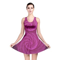 Purple Background Scrapbooking Abstract Reversible Skater Dress