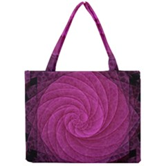Purple Background Scrapbooking Abstract Mini Tote Bag