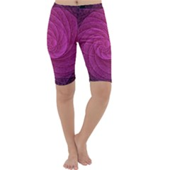 Purple Background Scrapbooking Abstract Cropped Leggings