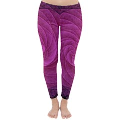 Purple Background Scrapbooking Abstract Classic Winter Leggings