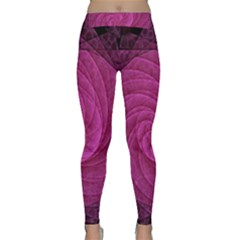 Purple Background Scrapbooking Abstract Classic Yoga Leggings
