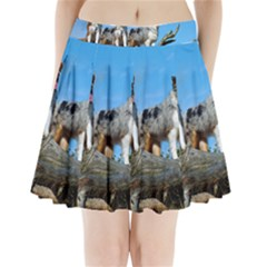 mini Australian Shepherd group Pleated Mini Skirt